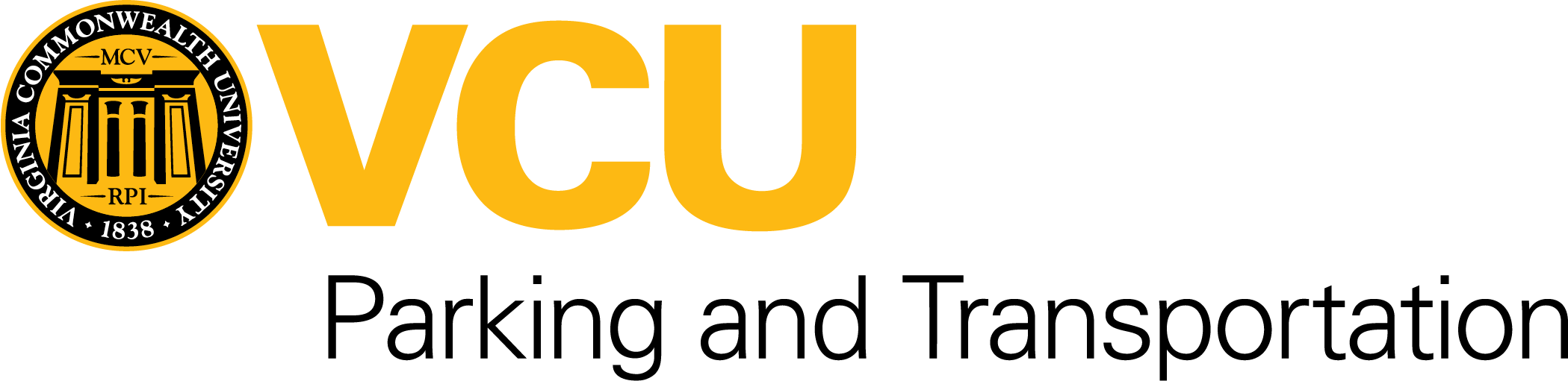 VCU Parking and Transportation Brandmark